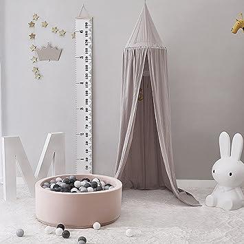 Pueri Betthimmel Baldachin Moskitonetz Spiel Kinder Prinzessin Spielzelte  Dekoration Fürs Kinderzimmer (Grau)