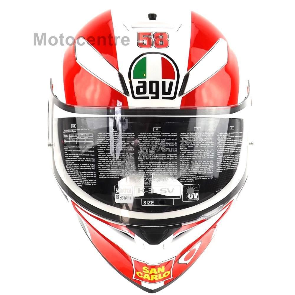 Agv K3 Sv Inner Sun Visor Dvs Full Face Motorcycle Helmet K3sv Simoncelli Car Motorbike