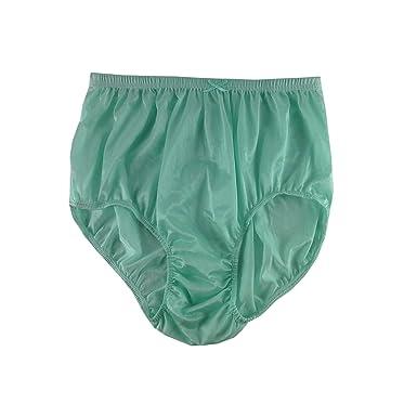 e0a0df5d74a366 Sexy Emerald Green Briefs Nylon Plain New Knickers Panties Underwear  Lingerie Men Women (XL(