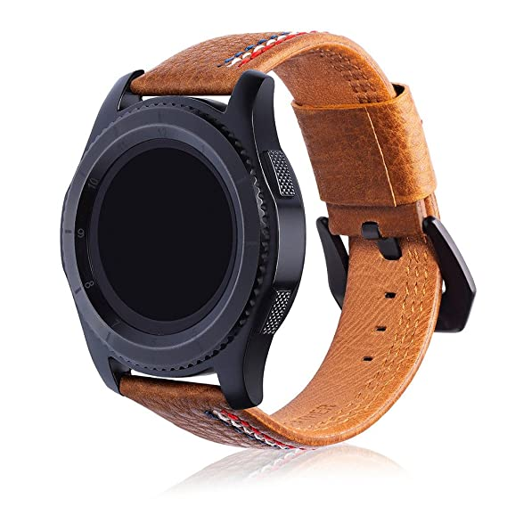 Amazon.com: Saying Three Lines Pure Color Leather Watch ...