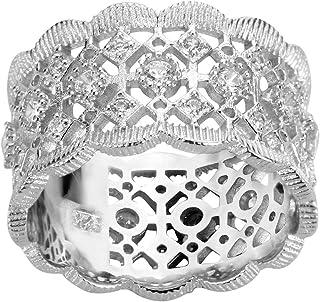 Filigree Cubic Zirconia Ring Sterling Silver 925