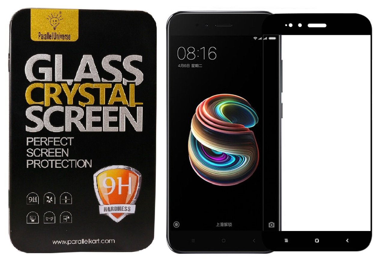 Parallel Universe Tempered Glass 3D Curved Edge to Edge Screen Protector  for Xiaomi Mi A1 (Black)