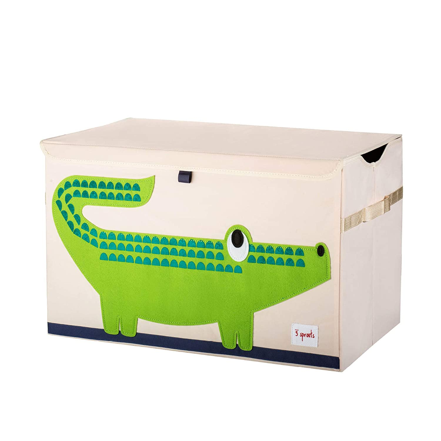 3 Sprouts Kids Toy Chest - Storage Trunk for Boys and Girls Room, Crocodile 71xuQLZa6sL