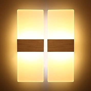 MILUCE 2 Paket 12W warme weiße Wand Waschmaschine LED Wand ...