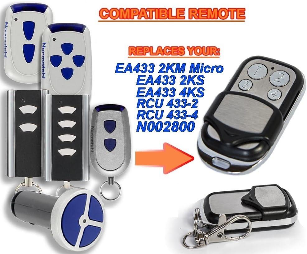 433 MHz télécommandes compatible avec porte de garage Normstahl Magic 600 1000 Ultra S