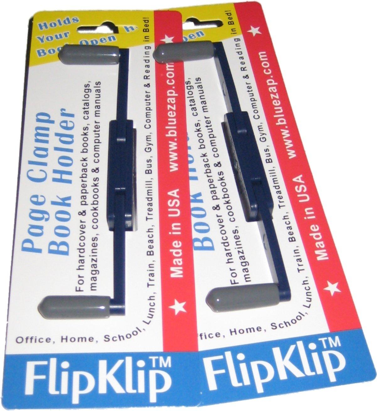 Flipklip Book Holders; 2-pak for Kitchen or Cookbooks by FlipKlip
