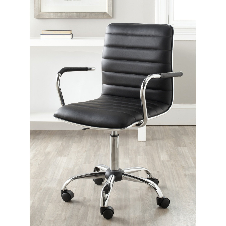 Amazon.com: Safavieh Home Collection Jonika Black Desk Chair: Kitchen U0026  Dining