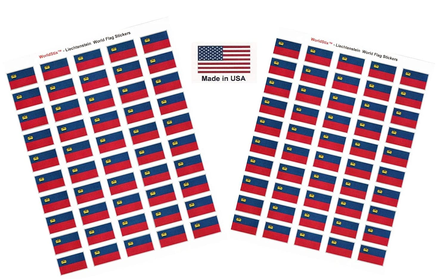 Made in USA 100 Country Flag 1.5 x 1 Self Adhesive World Flag Scrapbook Stickers 100 International Sticker Decal Flags Total Two Sheets of 50 Germany