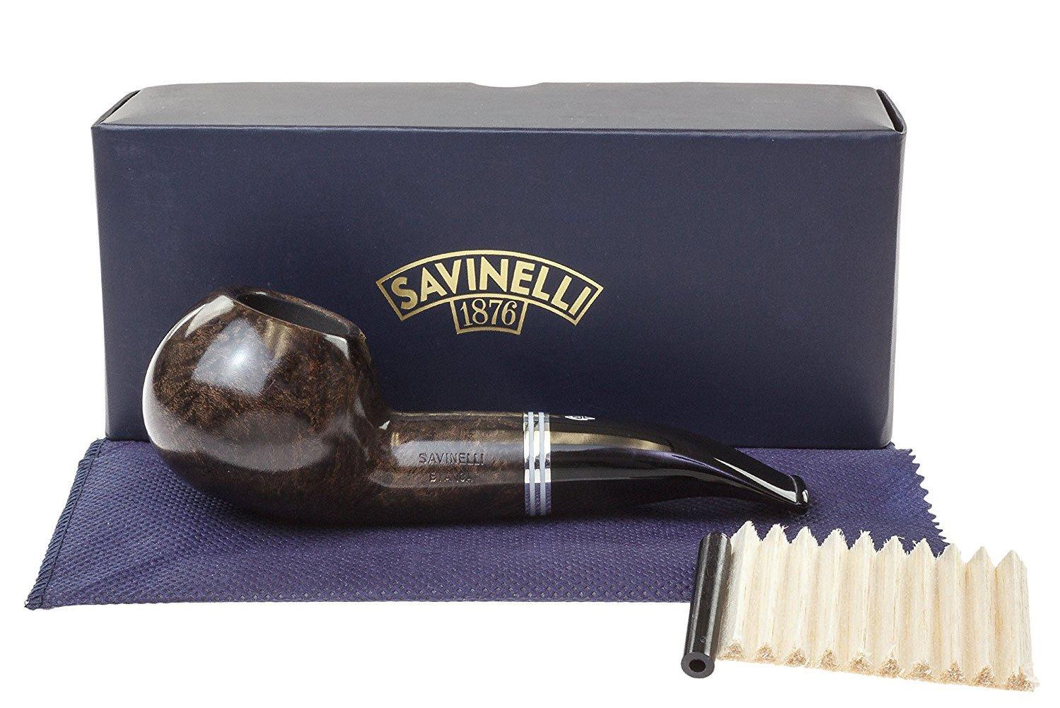 Savinelli Italian Tobacco Smoking Pipes, Bianca Smooth 320 KS