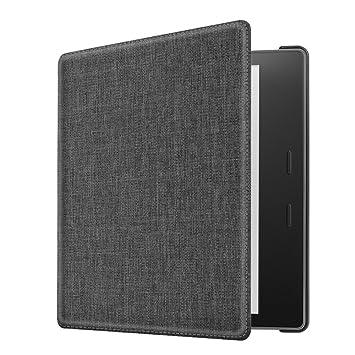 CASEBOT Funda para Kindle Oasis 2017 - Carcasa de Tela de Alta Calidad con Función de Auto-Reposo / Activación para Amazon Kindle Oasis (9ª ...