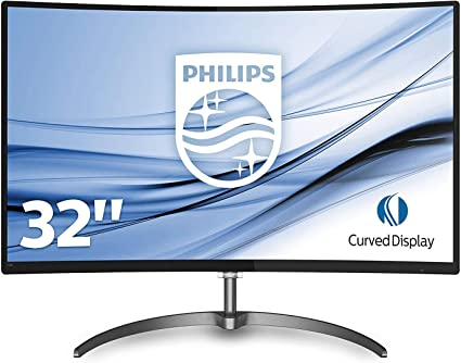 Philips 328E8QJAB500 80 cm (31,5 Zoll) Monitor (VGA, HDMI, 4ms Reaktionszeit, 1920 x 1080, Displayport, Curved, Full HD, Free Sync) schwarz