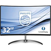 "Philips 328E8QJAB5 Gaming Monitor Curvo da 32"", FHD LED VA 75 Hz, Adaptive Sync, Flicker Free, Audio Integrato, HDMI, Display Port, VGA, Ultra Wide Color, Nero"