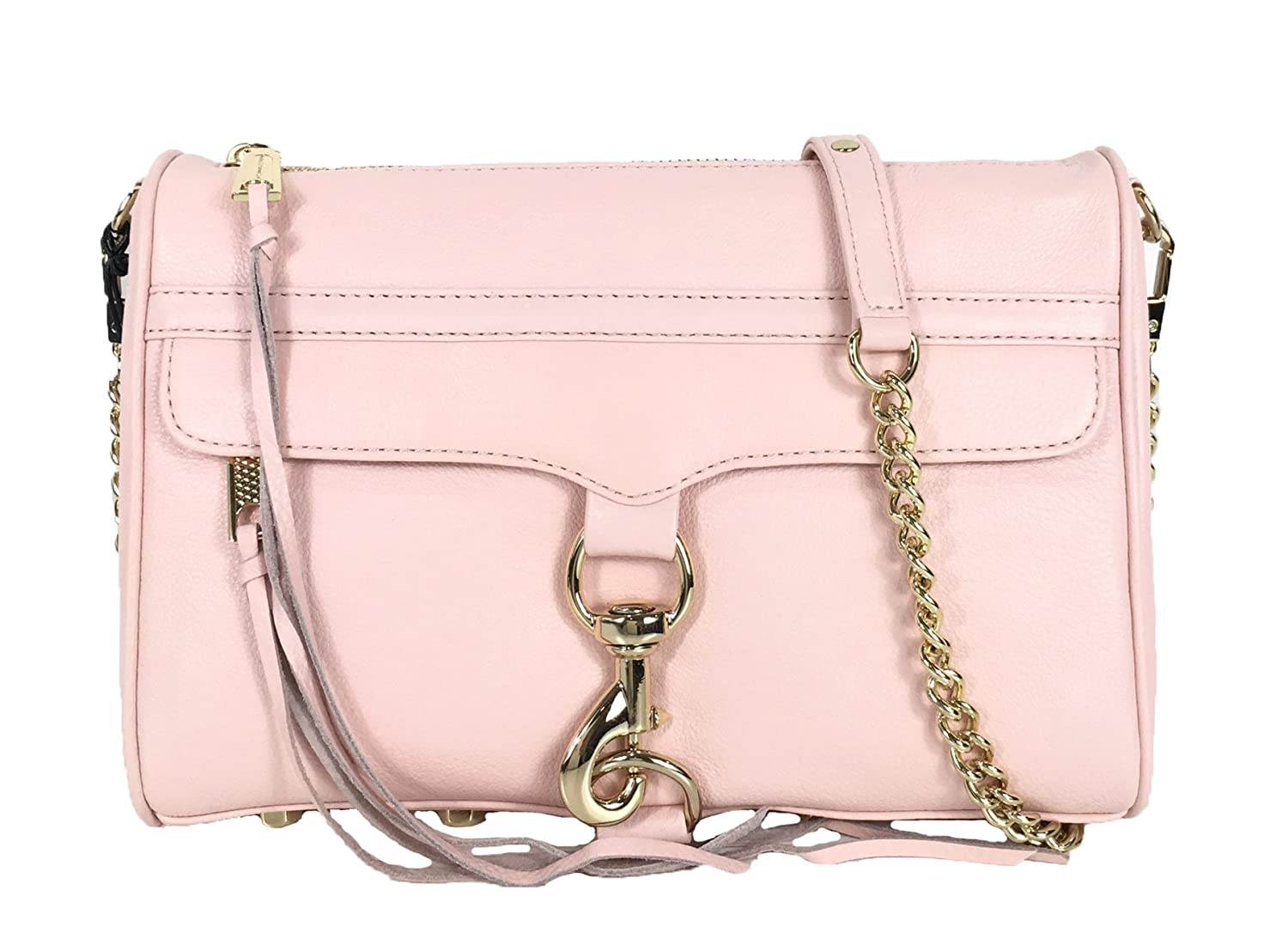 6d85986e953 Amazon.com: Rebecca Minkoff MAC Leather Clutch Crossbody Bag, Quartz ...