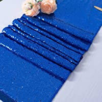 Color Sequin Table Runner 108 Inches Long 2 Packs 12x108 Inch Royal Blue Coffee Table Runner Sequins Runner for Wedding…