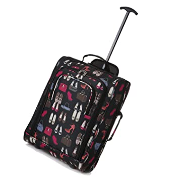 5 Cities Lightweight Cabin Trolley Bag Hand Luggage, 55 cm, 42 ...