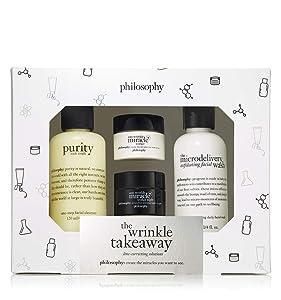 philosophy anti-wrinkle miracle worker+ the wrinkle takeaway set, 9 oz