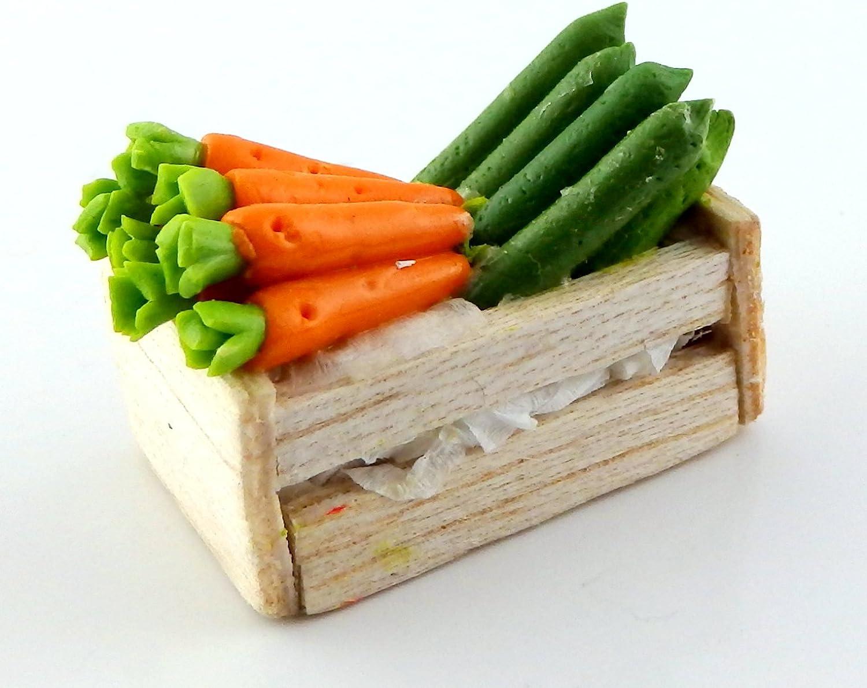Amazon.es: MELODY Jane Casa De Muñecas caja cajón de courgettes & Zanahorias Frutería Tienda Tienda Accesorio: Juguetes y juegos