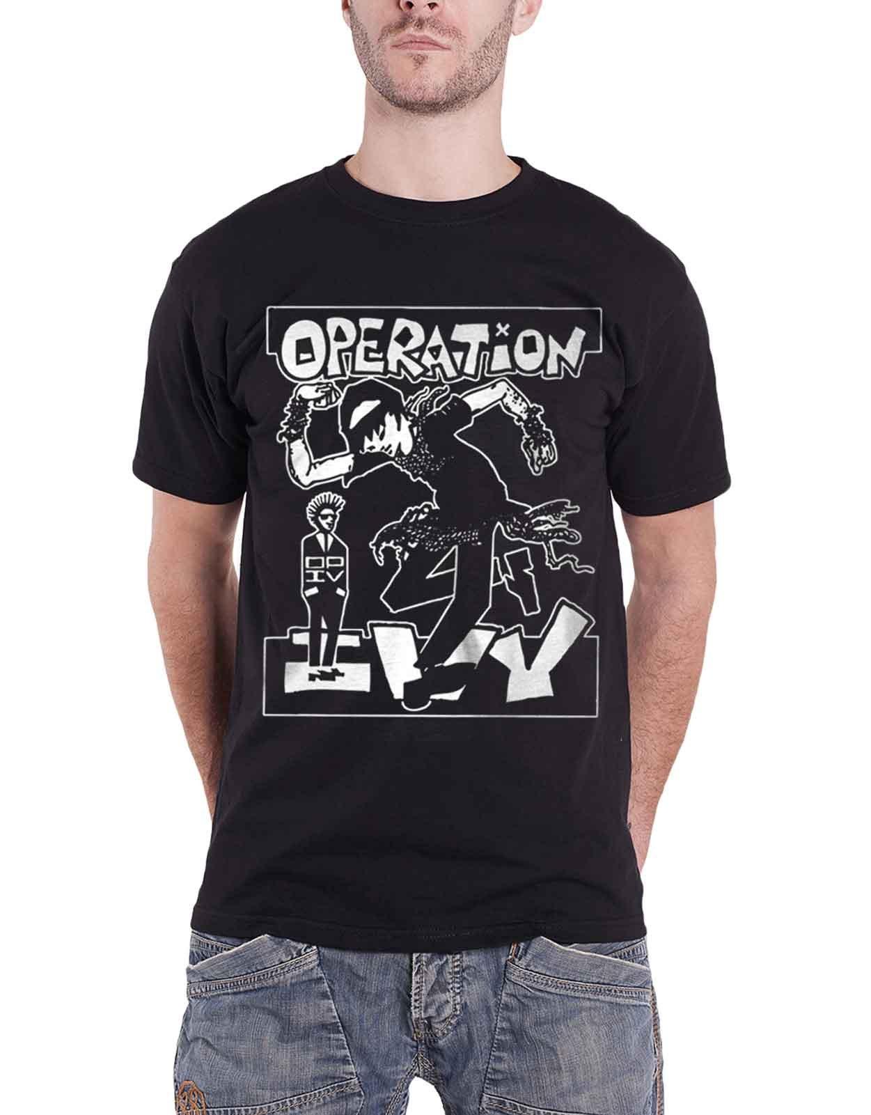 Operation Ivy T Shirt Skankin Band Logo Op Ivy Punk S Black