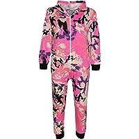 Kids Onesie Girls Boys Camouflage Print All in One Jumsuit Playsuit 5-13 Years