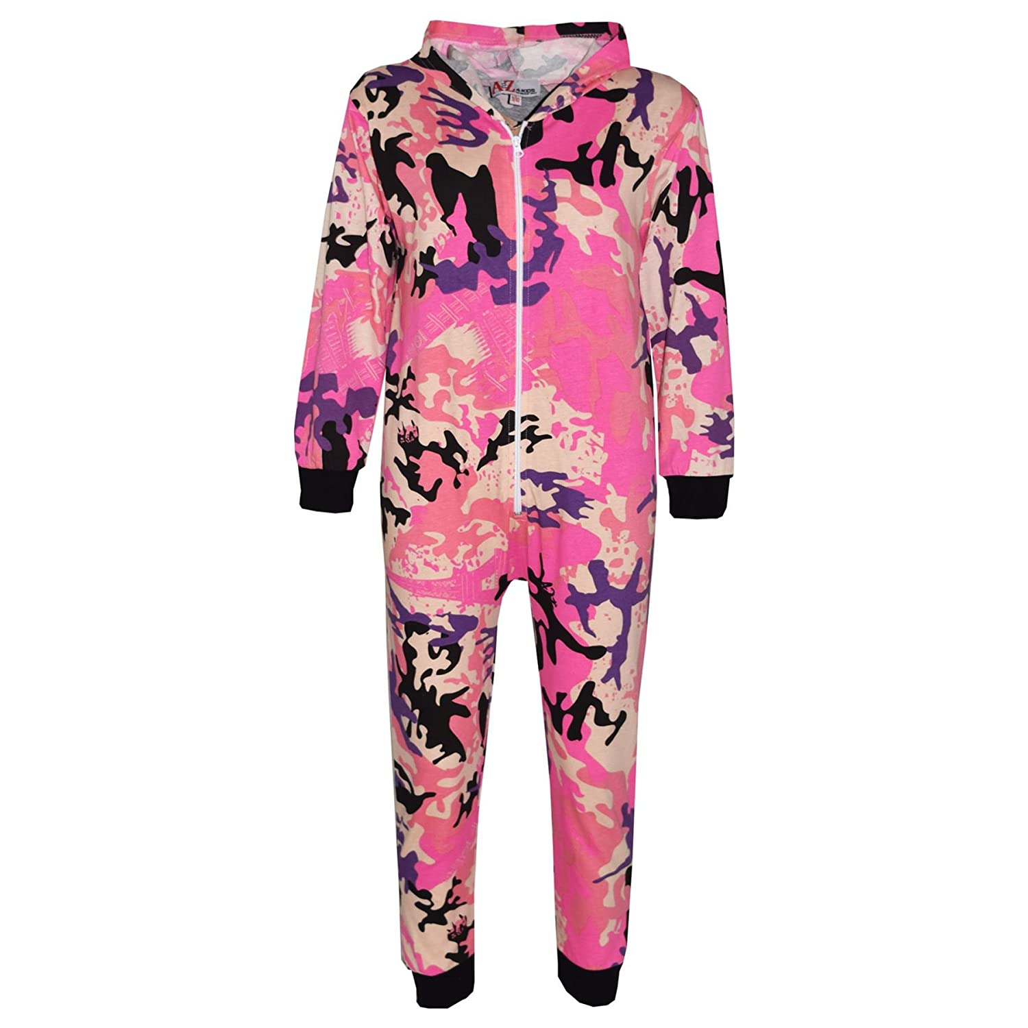 A2Z 4 Kids® Kids Onesie Girls Boys Designer's 100% Cotton Camouflage Print All in One Jumpsuit Playsuit New Age 5 6 7 8 9 10 11 12 13 Years