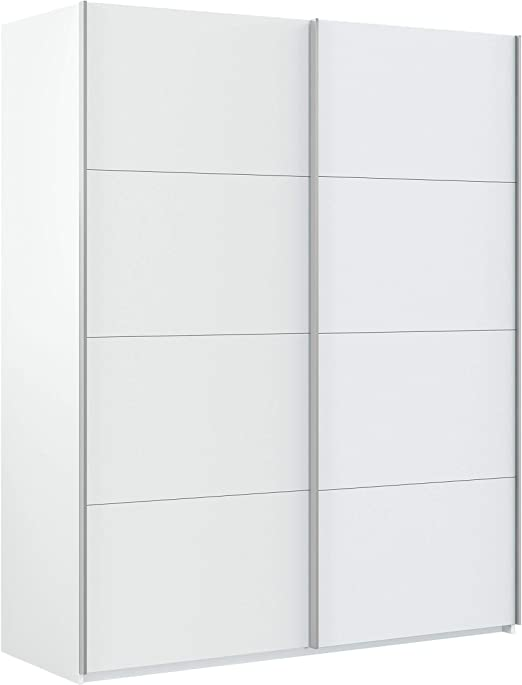 Habitdesign Hera Armario Puertas correderas, Blanco Artik, 150 x 200 x 60 cm: Amazon.es: Juguetes y juegos