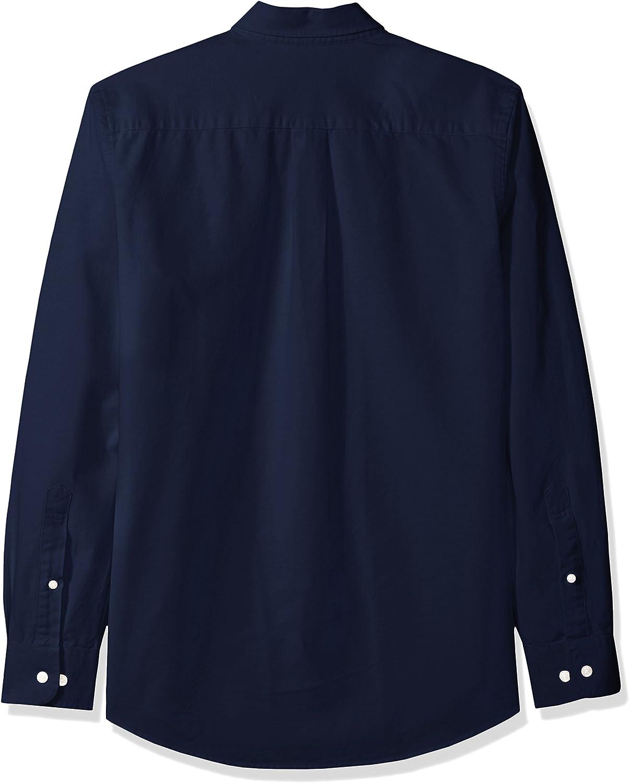 Essentials Mens Slim-fit Long-Sleeve Solid Oxford Shirt Button Down Shirt