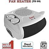 Warmex 1000/2000 Watts Fan Heater FH 09 (White)