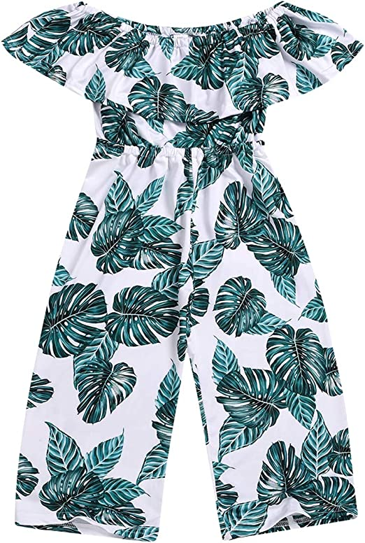 Girls Clothing Fashionable Comfortable Jumpsuit One Piece Sleeveless for 12M-7Y