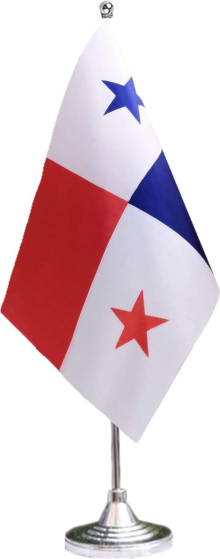 tibijoy Panama Desk Flag with Stand,Small Mini Panamanian Table Flag Holder,Miniature Desktop Flag,International Table Decoration,Festival Events Celebration,Home Decoration,Office Decoration