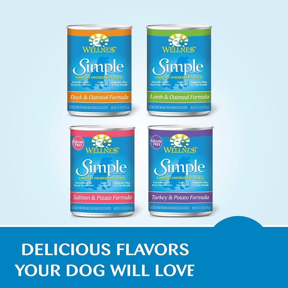 Wellness Simple Natural Grain Free Wet Canned Limited Ingredient Dog Food, Turkey & Potato, 12.5-Ounce Can (Pack of 12) by Wellness Natural Pet Food (Image #11)