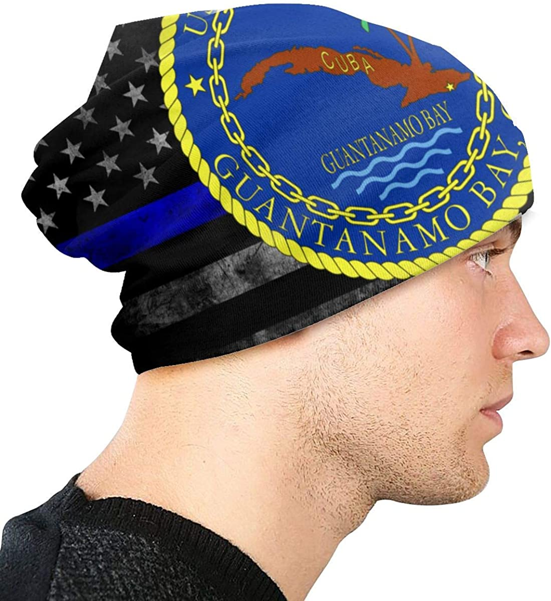 Guantanamo Bay Cuba Naval Base Seal Unisex Warm Hat Knit Hat Skull Cap Beanies Cap