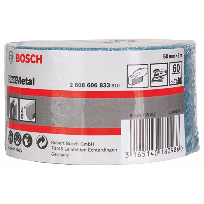 180 5 mm pack de 1 Rodillo lijador Bosch 2 608 606 836 50 mm
