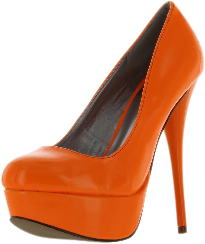 a74a7aab57d Qupid Neutral-156 Shiny Shoes High Heel Classic Platform Stiletto Pumps
