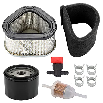 Yermax GY20661 Air Filter with Oil Filter Maintence Kit for John Deere  LT160 LX266 L110 7G18 17 542HS G15 GS30 GS45 Lawn Mower Tractor