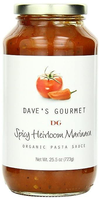 Daves Gourmet 12 Piece Spicy Heirloom Marinara Organic Pasta Sauce, 25.5 Ounce