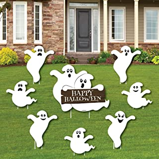 product image for Big Dot of Happiness Spooky Ghost - Yard Sign and Outdoor Lawn Decorations - Halloween Party Yard Signs - Set of 8