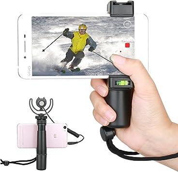 F-Mount Smartphone mango Rig con correa para la muñeca, adaptador para trípode y soporte de