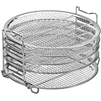 Dehydrator Rack, Air Fryer 6.5 and 8 Quart Compatible, 5 Stackable Layer Stainless Steel Stand Accessories, for Fruits…
