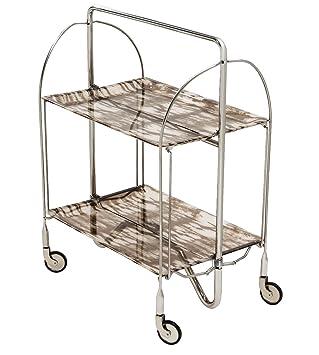 Amazon.com: shimontech 2-shelf elegante mesa de acero ...