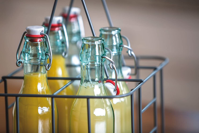 Amazon.com: KitchenCraft Living Nostalgia Metal Bottle Carrier ...