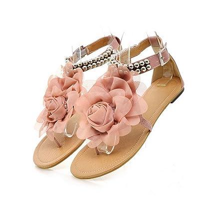 267044ce78edd Robert Westbrook Gladiator For Women Sandals Beaded Summer Flower Flat  Heels Flip Flops Women S Shoes Sandals