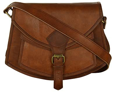 684e7dd93f0c ZiBag Vintage Goat Leather 7 quot  Cross Body Bag Boat Style with Front  Pocket Ideal for
