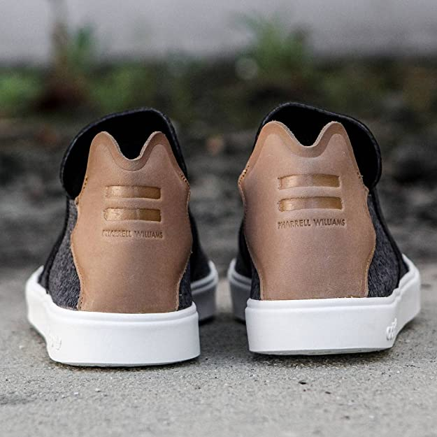 new product 4a1d6 9a8ee Amazon.com  Adidas X Pharrell Williams Mens Vulc Slip-On (11.5 D(M) US,  Granite)  Fashion Sneakers