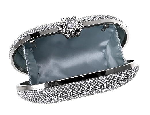 Damen Diamanten Handtaschen Gehobenen Kleider Abendpacks Mode Gehobenen Luxus Mini Umhängetasche,Silver-OneSize CHENGXIAOXUAN