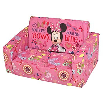 Charming JnH Disney Minnie Mouse Kids Foam Sofa Chair Flip Out Bed