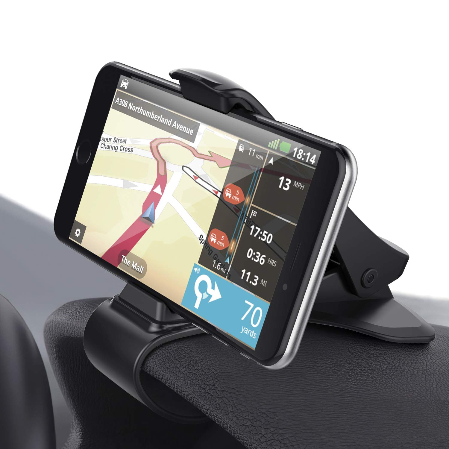 """1 Pack Car Phone Holder Dashboard Google Elegant Choise Durable Non-Slip HUD Car Phone Mount Compatible with iPhone Xs Max//XR//XS LG Samsung Galaxy S10 Plus//S10e Moto and More up to 6.5/"""""""