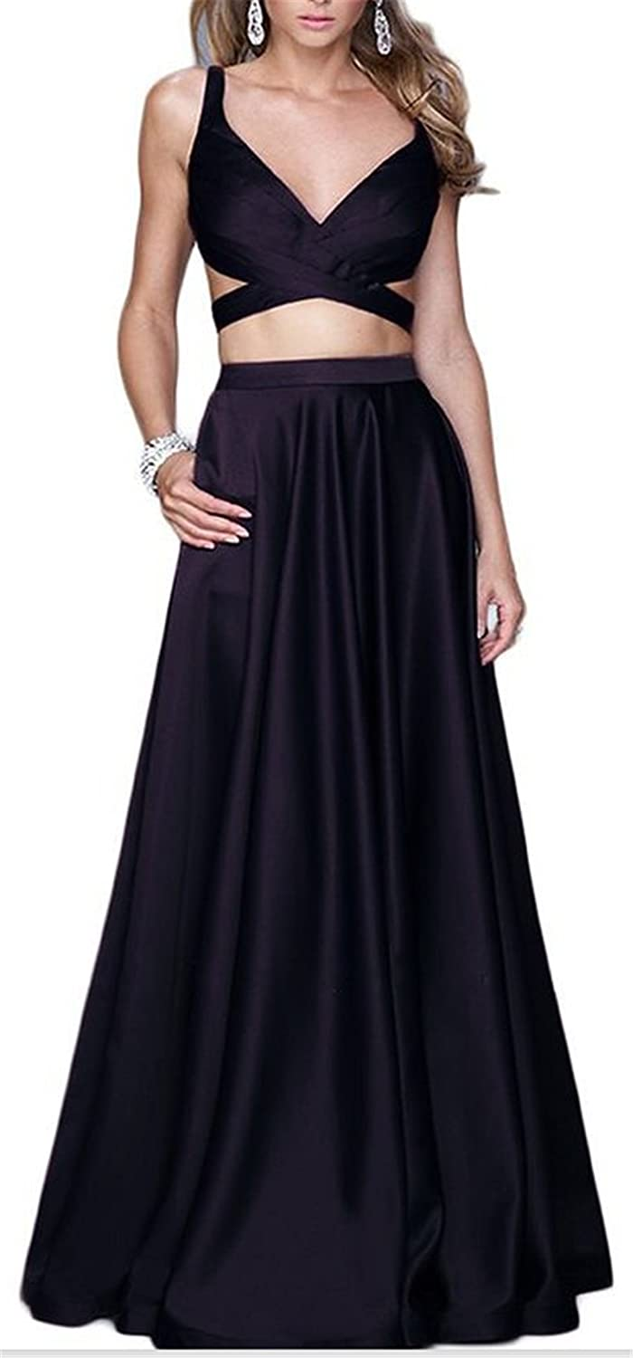 HelloGirls Womens Two Piece Prom Dresses Formal Evening Gowns: Amazon.co.uk: Clothing