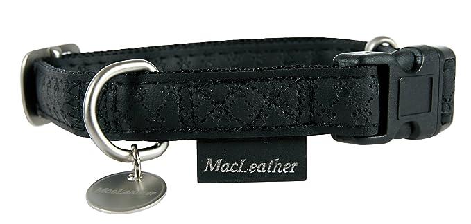 Mac Leather Halsband Schwarz M: Amazon.de: Haustier