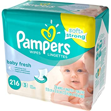 Pampers Baby Fresh Baby Wipes 216 sheets