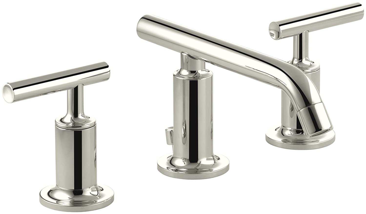 KOHLER K-14410-4-BGD Purist Widespread Bathroom Sink Faucet with ...